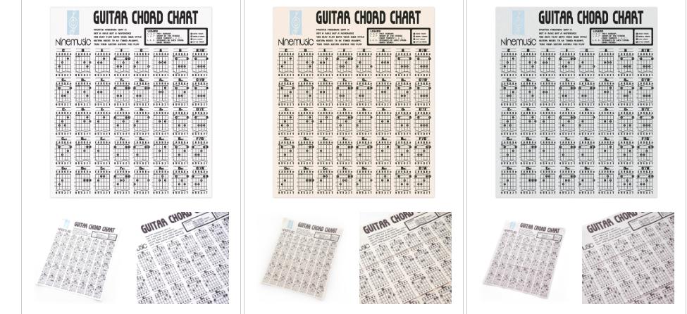 ギターコードチャートがプリントされたギタークロス入荷